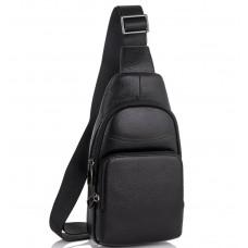 Мужской слинг-рюкзак на одну шлейку из натуральной кожи Tiding Bag SM8-868A - Royalbag