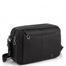 Горизонтальный кожаный мессенджер черный Tiding Bag SM8-8890-1A - Royalbag Фото 2