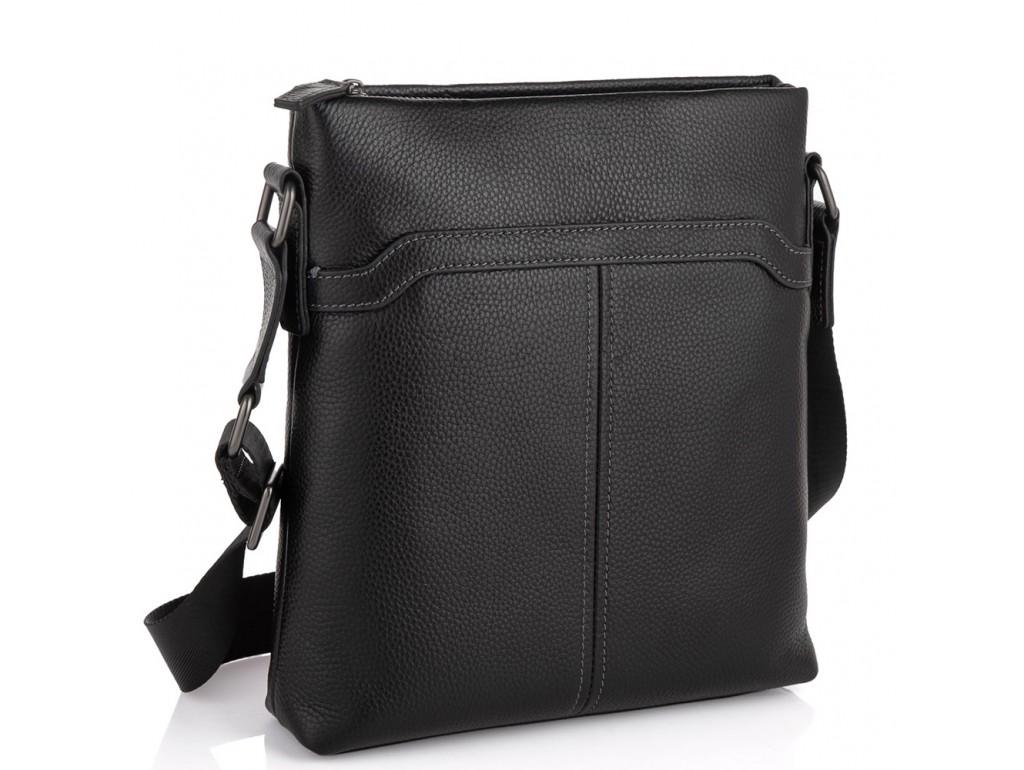 Мессенджер черный через плечо Tiding Bag SM8-8987A - Royalbag Фото 1
