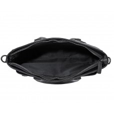 Классическая мужская черная кожаная сумка Tiding Bag SM8-8990-1A - Royalbag