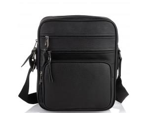 Чоловіча шкіряна сумка через плече чорна Tiding Bag SM8-909A - Royalbag