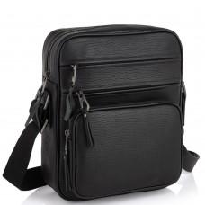 Мужская кожаная сумка через плечо черная Tiding Bag SM8-909A - Royalbag Фото 2