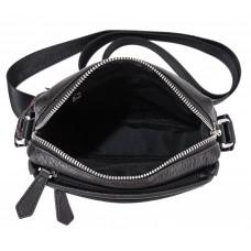 Мужская кожаная сумка через плечо черная Tiding Bag SM8-919A - Royalbag