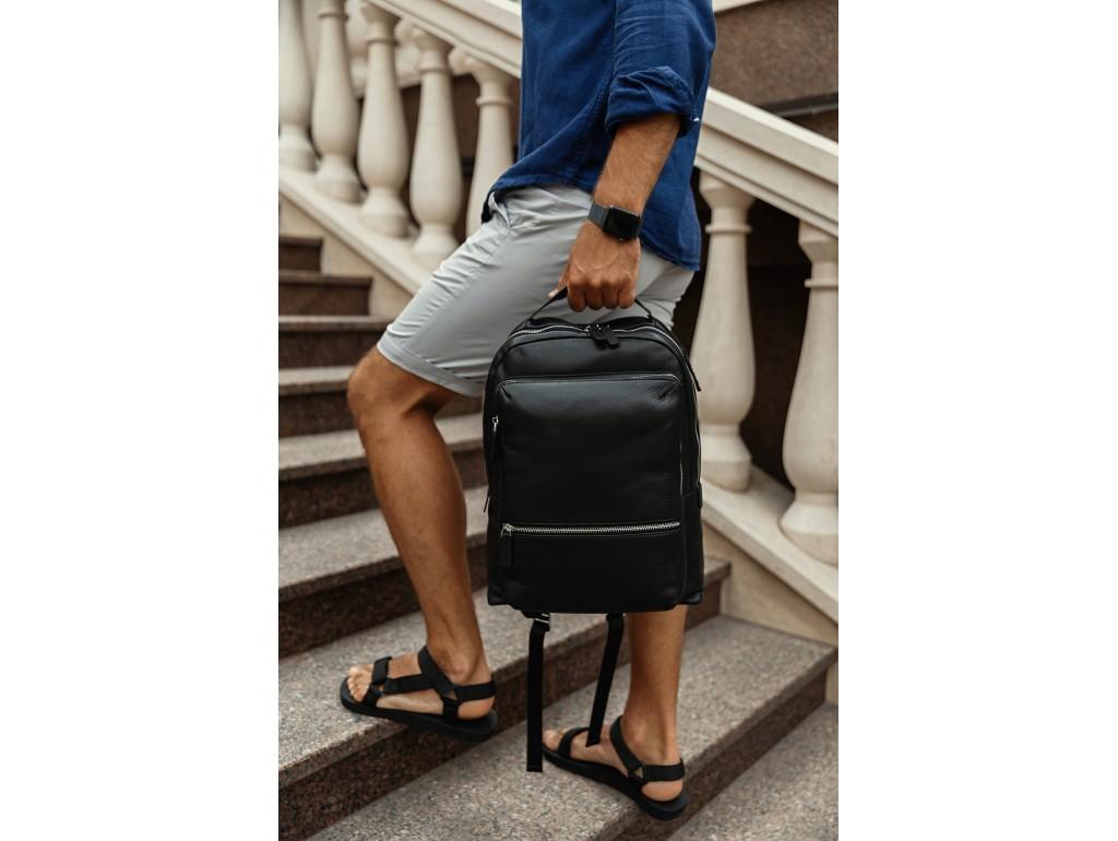 Мужской кожаный городской рюкзак для ноутбука Tiding Bag SM8-9597-3A - Royalbag