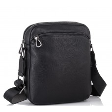 Мужская кожаная сумка через плечо черная Tiding Bag SM8-9686-4А - Royalbag