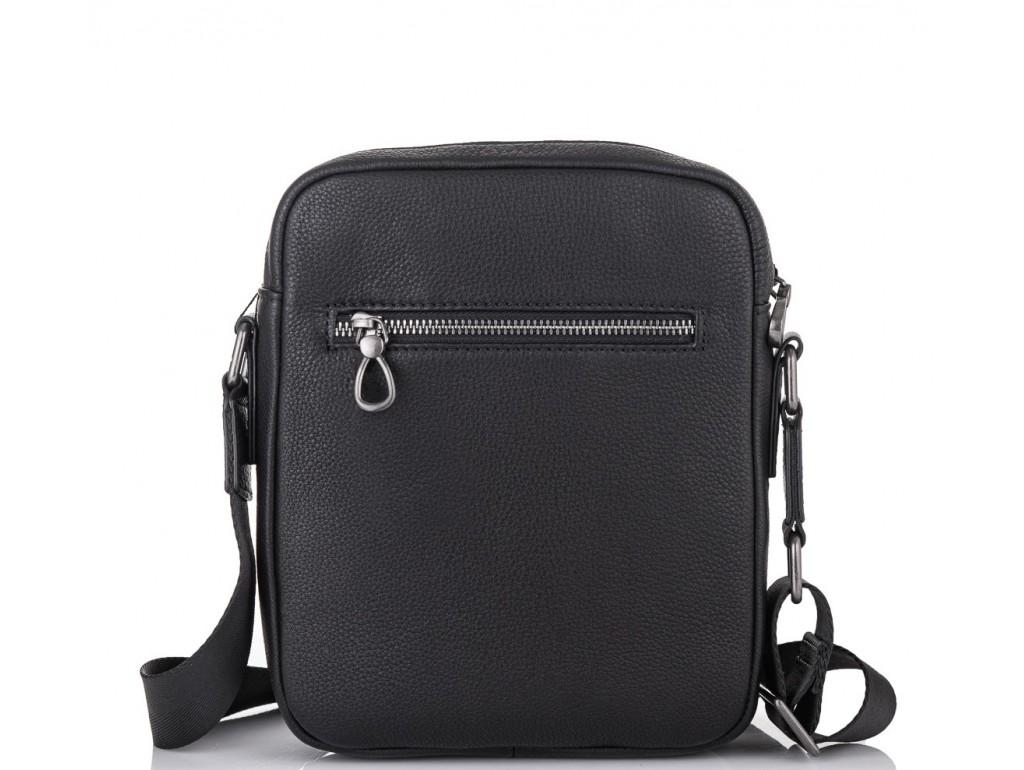 Мужская кожаная сумка через плечо черная Tiding Bag SM8-9686-4A - Royalbag