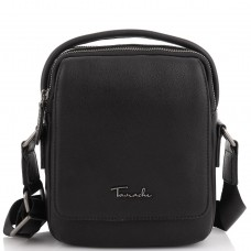 Кожаная сумка через плечо в черном цвете Tavinchi TV-009A - Royalbag
