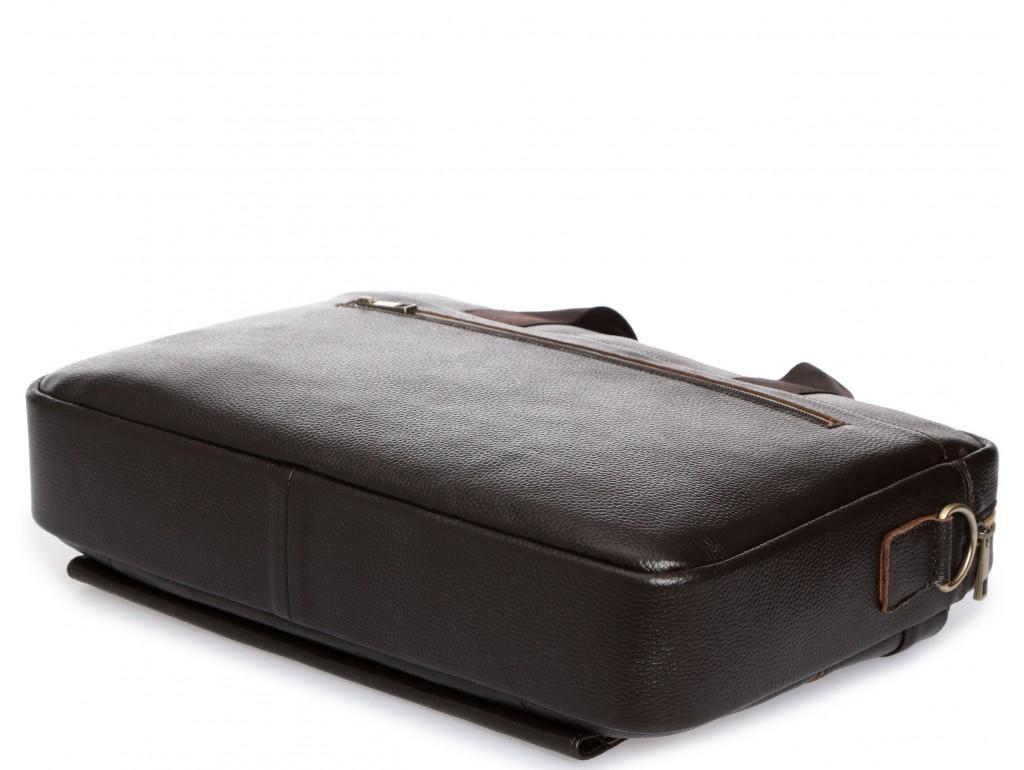 Деловая кожаная сумка для документов и ноутбука коричневая Tiding Bag A25-1131C - Royalbag
