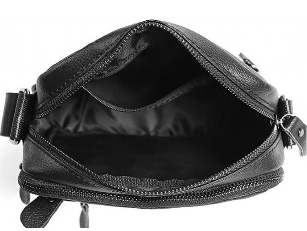 Мужская кожаная сумка через плечо маленькая Tiding Bag A25-223A - Royalbag