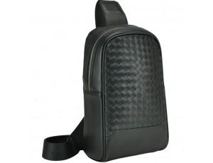 Сумка-слинг мужская с плетением Tiding Bag B3-1700A - Royalbag