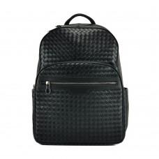 Рюкзак черный мужской с плетением Tiding Bag B3-8601A - Royalbag