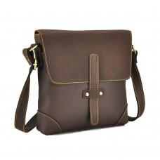 Сумка мужская через плечо средняя из винтажной кожи Tiding Bag G1177B - Royalbag Фото 2