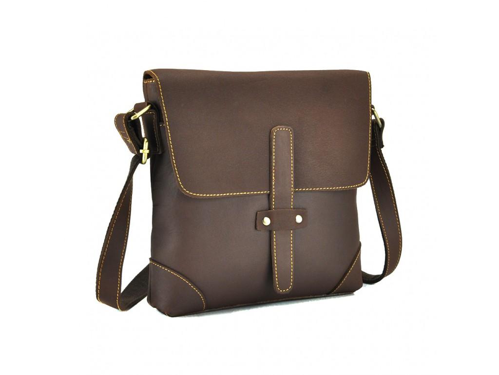 Сумка мужская через плечо средняя из винтажной кожи Tiding Bag G1177B - Royalbag Фото 1