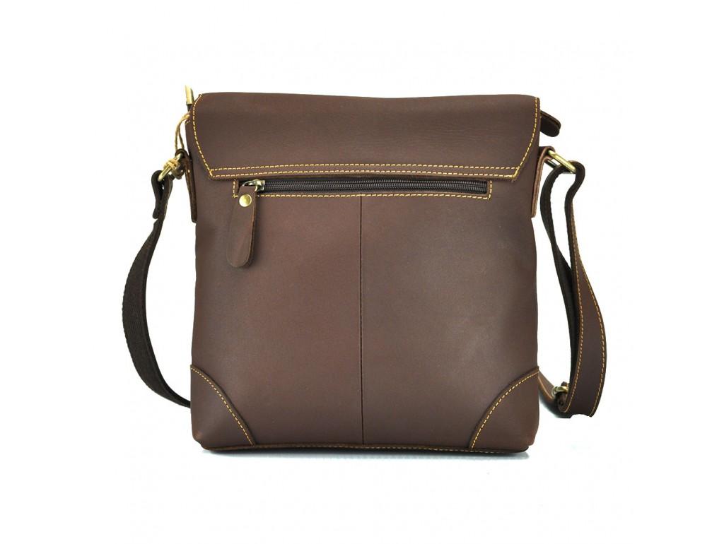 Сумка мужская через плечо средняя из винтажной кожи Tiding Bag G1177B - Royalbag