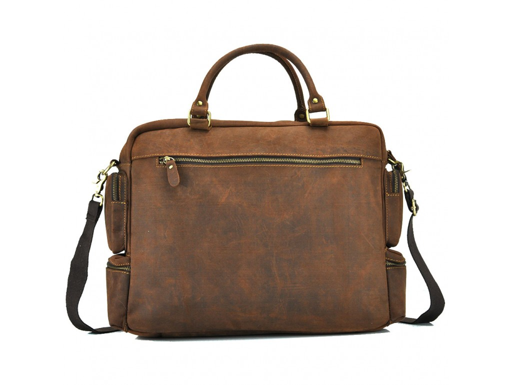 Вместительная мужская кожаная сумка для ноутбука Tiding Bag t0017 - Royalbag