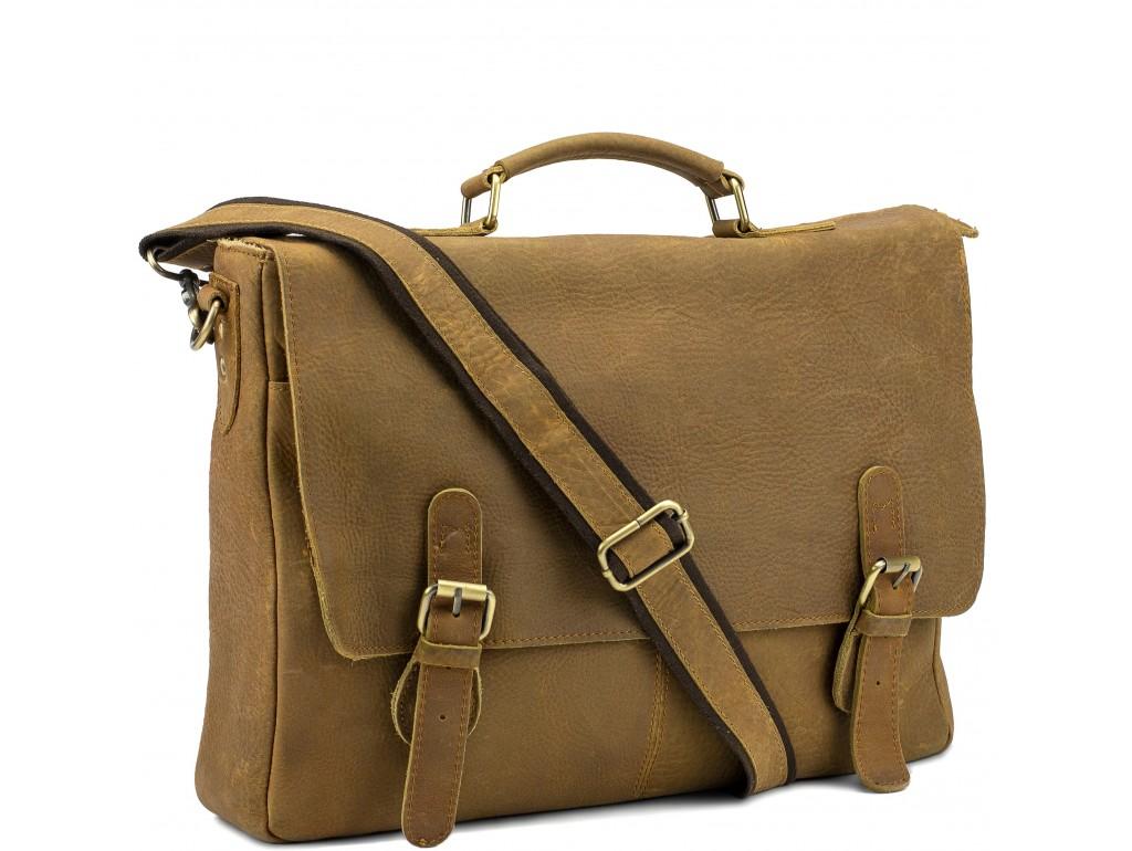 Эксклюзивный мужской кожаный портфель кожа Tiding Bag t0021C - Royalbag Фото 1