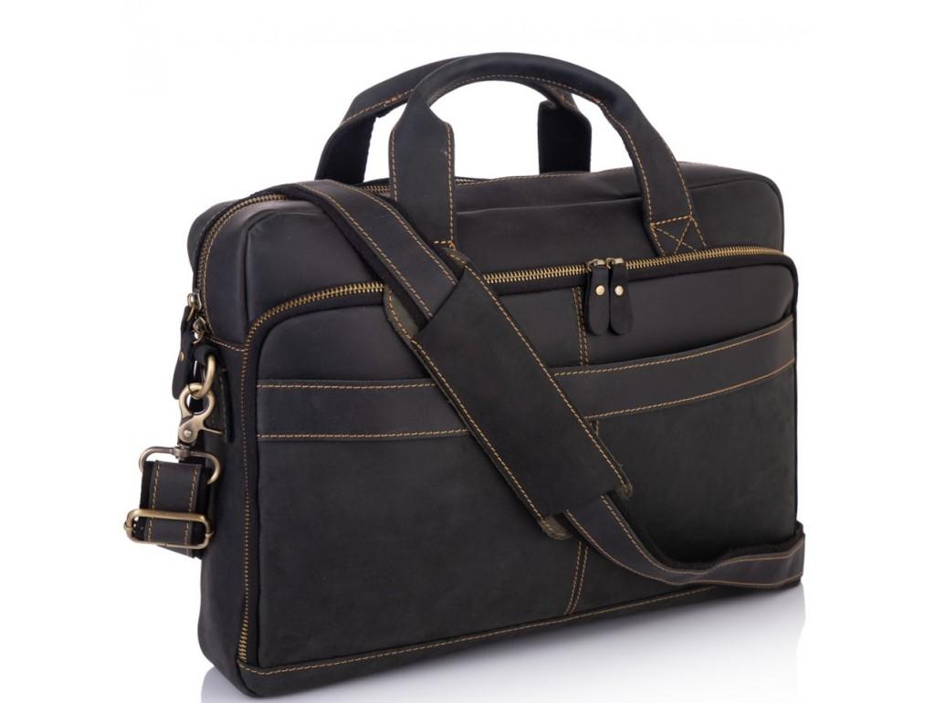 Ділова чоловіча шкіряна сумка для ноутбука і документів Tiding Bag t0033A - Royalbag Фото 1