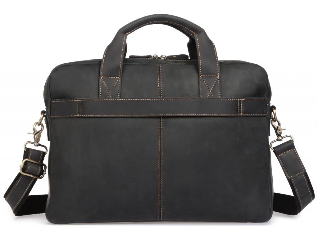 Деловая мужская кожаная сумка для ноутбука и документов Tiding Bag t0033A