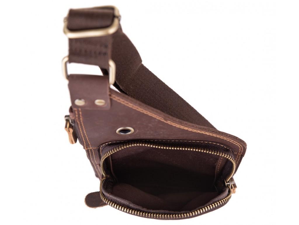 Мужской кожаный слинг в винтажном стиле коричневый Tiding Bag t0035 - Royalbag