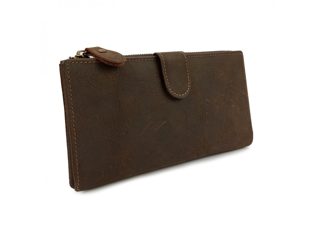 Портмоне мужское коричневое Tiding Bag t0049 - Royalbag Фото 1