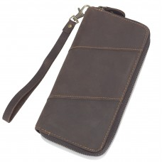 Коричневое мужское портмоне Tiding Bag t0051 - Royalbag Фото 2