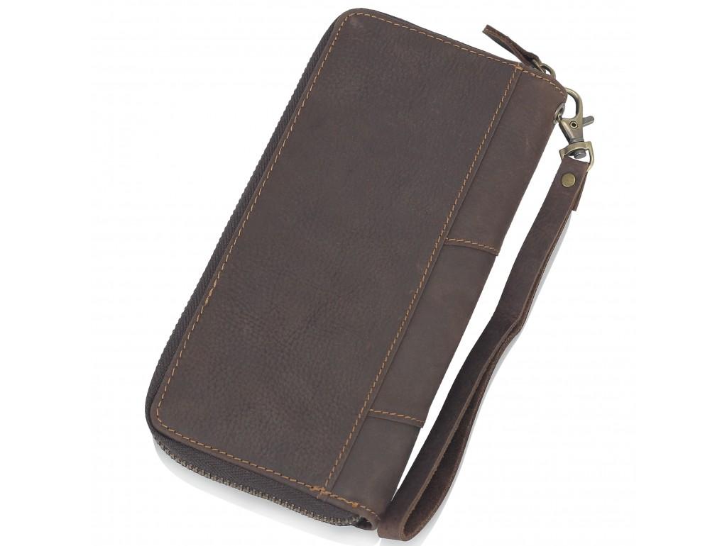 Коричневое мужское портмоне Tiding Bag t0051 - Royalbag
