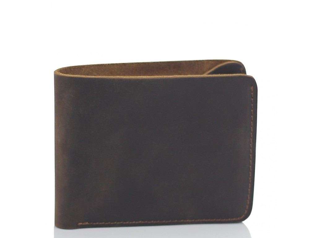 Портмоне коричневое мужское Tiding Bag t0053 - Royalbag Фото 1