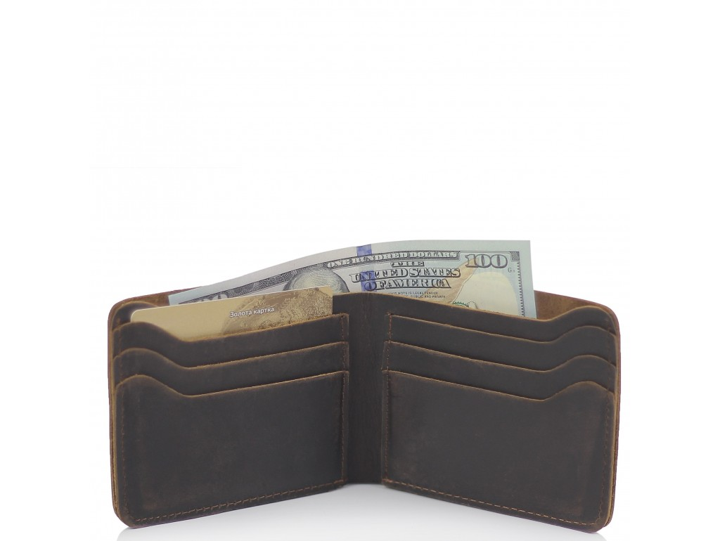 Портмоне коричневое мужское Tiding Bag t0053 - Royalbag