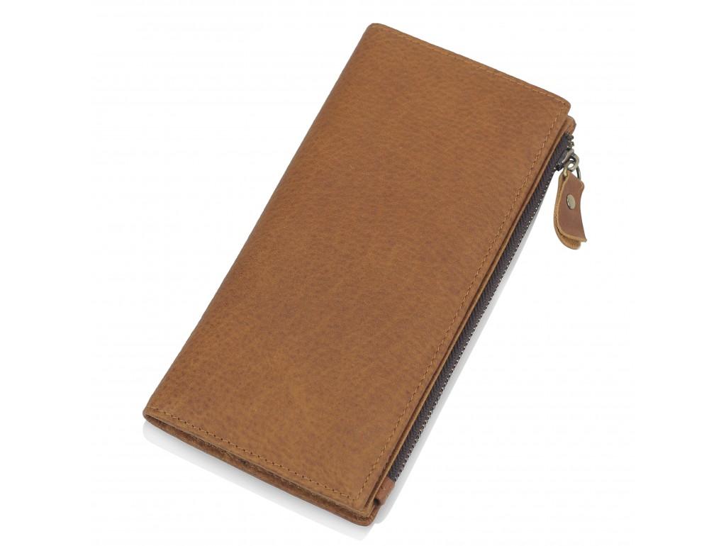 Портмоне мужское коричневое Tiding Bag t0058 - Royalbag Фото 1