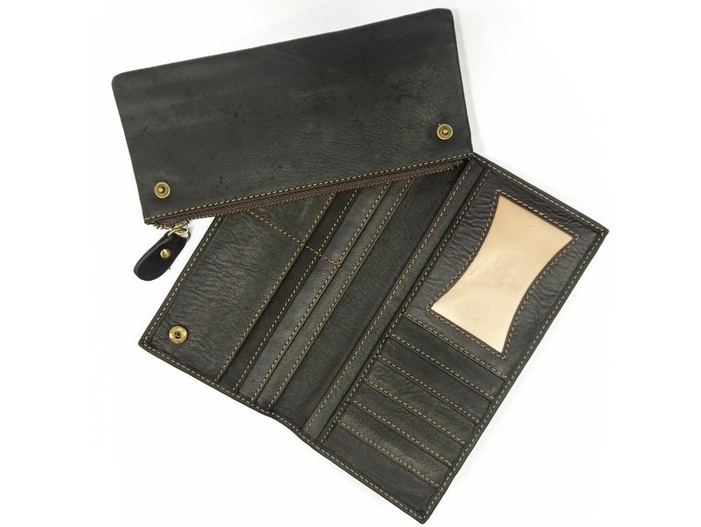 Портмоне мужское черное Tiding Bag t0058A - Royalbag