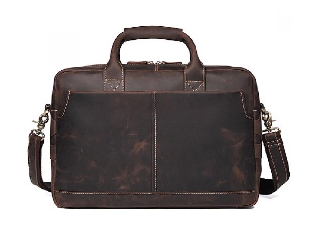 Стильная мужская сумка-портфель для документов из винтажной кожи Tiding Bag t1019 - Royalbag