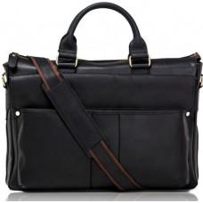 Элегантная большая мужская кожаная сумка 17 диагональ Tiding Bag t1096A - Royalbag