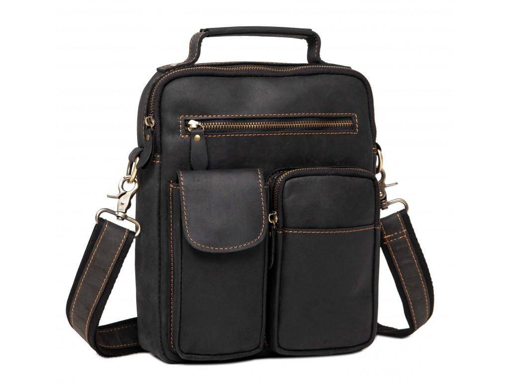 Кожаная сумка-мессенджер через плечо Tiding Bag t1171A - Royalbag Фото 1