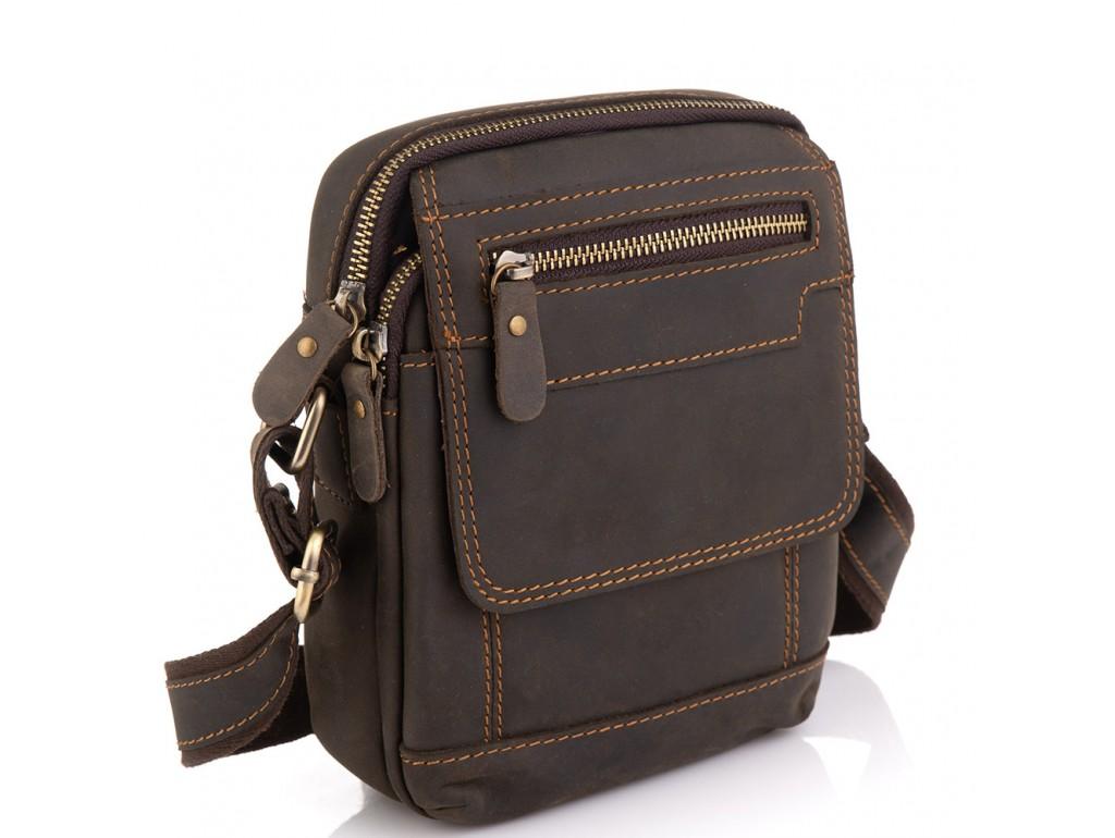 Чоловіча шкіряна сумка коричнева Tiding Bag t2101 - Royalbag Фото 1