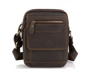 Мужская кожаная сумка коричневая Tiding Bag t2101 - Royalbag