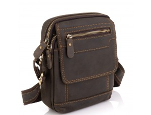 Чоловіча шкіряна сумка коричнева Tiding Bag t2101 - Royalbag