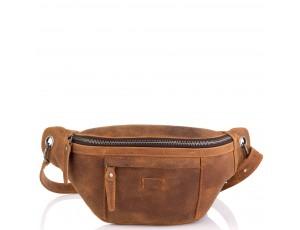 Мужская сумка на пояс коричневая Tiding Bag t2103C - Royalbag