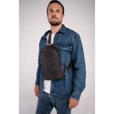 Сумка-слинг в винтажном стиле коричневая Tiding Bag t2104 - Royalbag