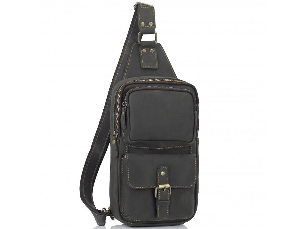 Мужская сумка-слинг коричневого цвета Tiding Bag t2105 - Royalbag Фото 1
