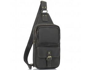Мужская сумка-слинг коричневого цвета Tiding Bag t2105 - Royalbag