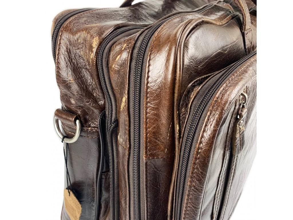 Уцінка! Чоловіча дорожна ділова шкіряна сумказ карманами Tiding Bag 7343C-5 - Royalbag