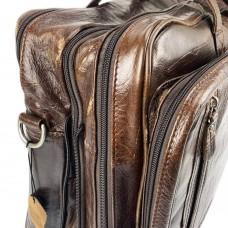 Уценка! Мужская дорожная деловая кожаная сумка с карманами Tiding Bag 7343C-5 - Royalbag