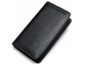 Чоловічий шкіряний клатч чорний MS Ms005A - Royalbag