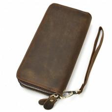 Клатч мужской коричневый Tiding Bag T4009R - Royalbag