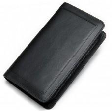 Чоловічий шкіряний клатч чорний MS Ms005A - Royalbag Фото 2