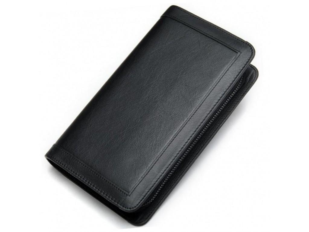 Чоловічий шкіряний клатч чорний MS Ms005A - Royalbag Фото 1