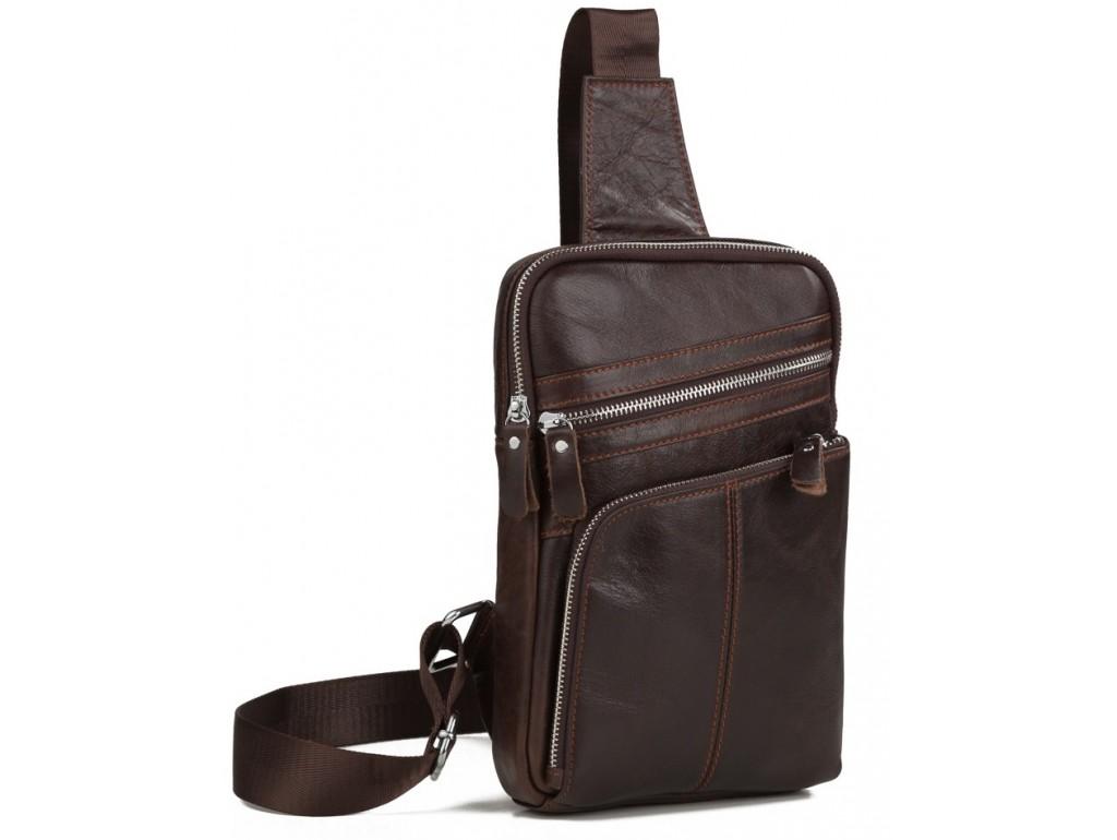 Мужской кожаный слинг, сумка на одно плечо Tiding Bag A25-6896C - Royalbag