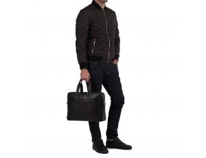 Сумка-портфель чоловіча шкіряна для ноутбука і документів Tiding Bag M8018A - Royalbag