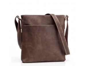 Сумка через плечо мужская кожаная crazy horse Tiding Bag G1166B - Royalbag