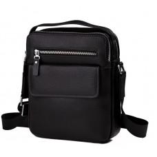 Мужская кожаная сумка через плечо с ручкой Tiding Bag M5609-1A - Royalbag